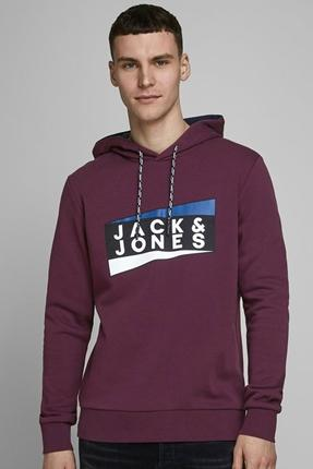 Anton Sweat Hood Noos Bordo Erkek Sweatshirt