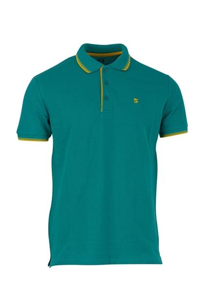Five Pocket Polo Yaka Regular Erkek Mavi Tişört 8113-FY67