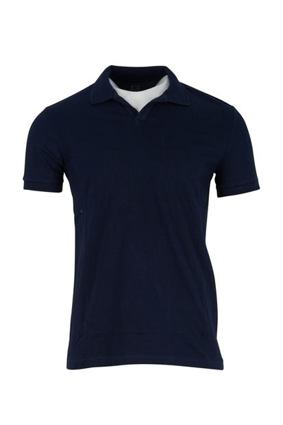 Five Pocket Polo Yaka Regular Erkek Lacivert Tişört 8115-FY10